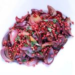 Roasted red onions w pomegranate250