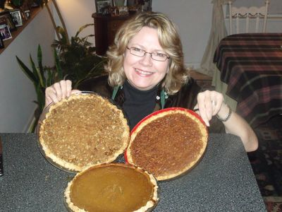 Kate and the pies!