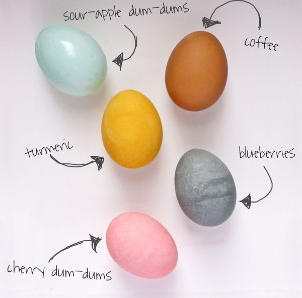 The Bitten Word: Easter Challenge: Dyeing Eggs with Food from Your ...