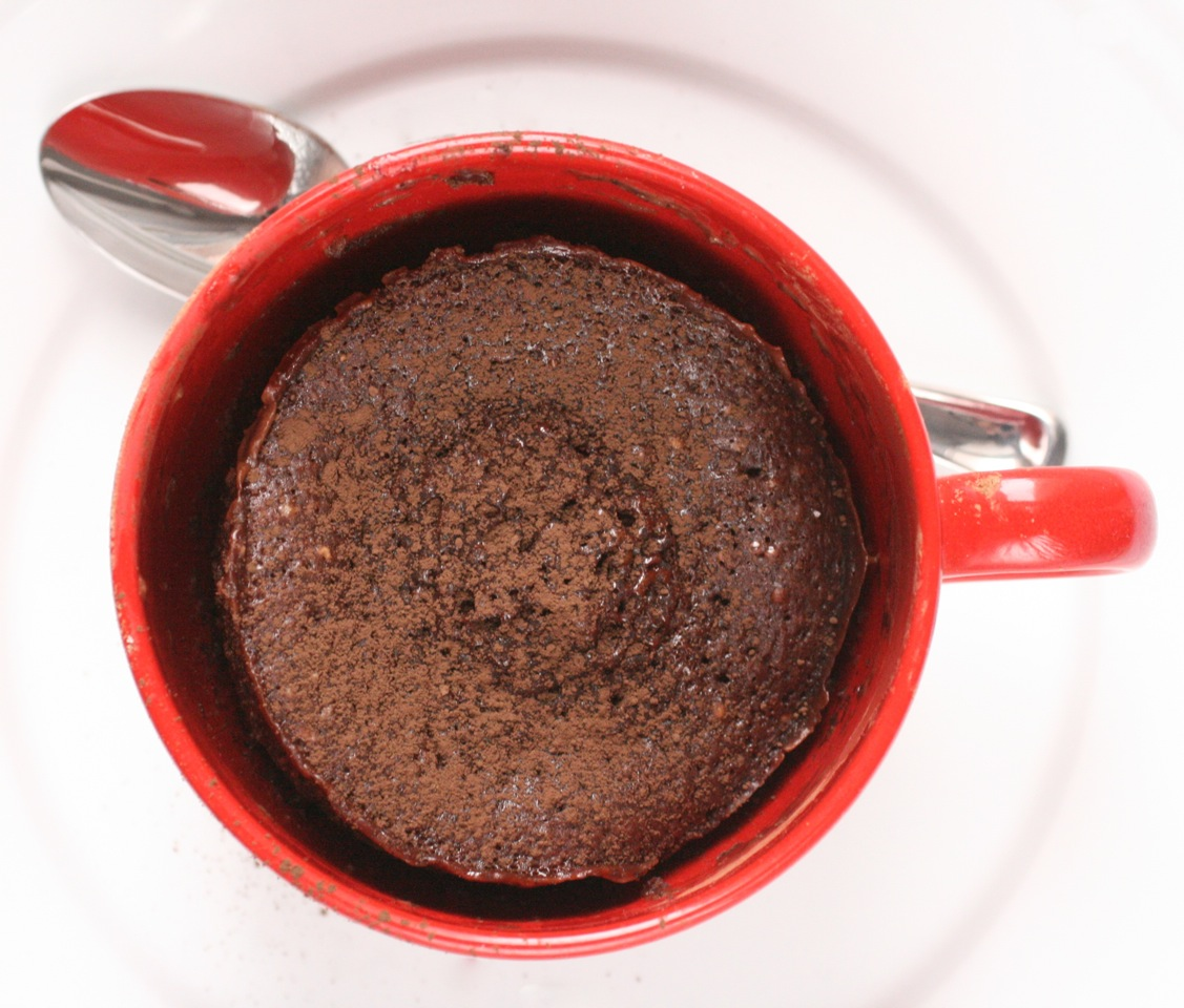 Fast chocolate cake in a mug