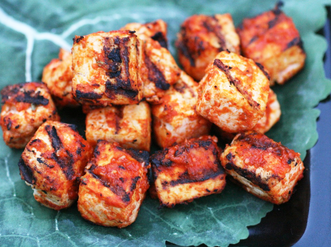 Sriracha-Grilled Tofu Recipe — Dishmaps