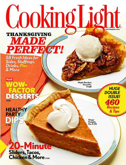 Cooking Light November 2011 newsstand cover