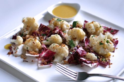 Cauliflower radichio salad