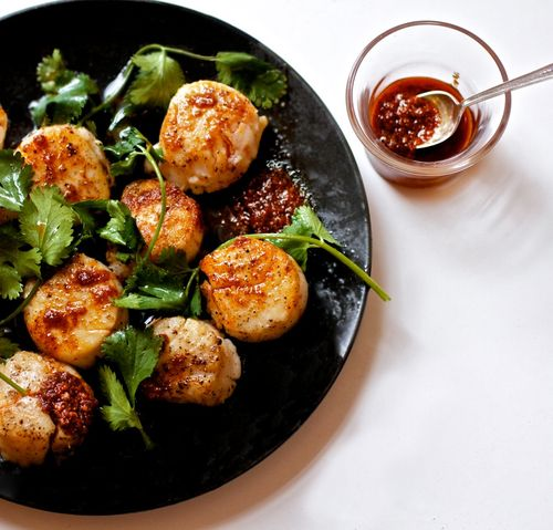 Scallops with spice oil 2