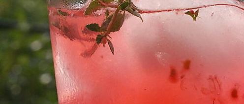 Raspberry-Thyme Smash