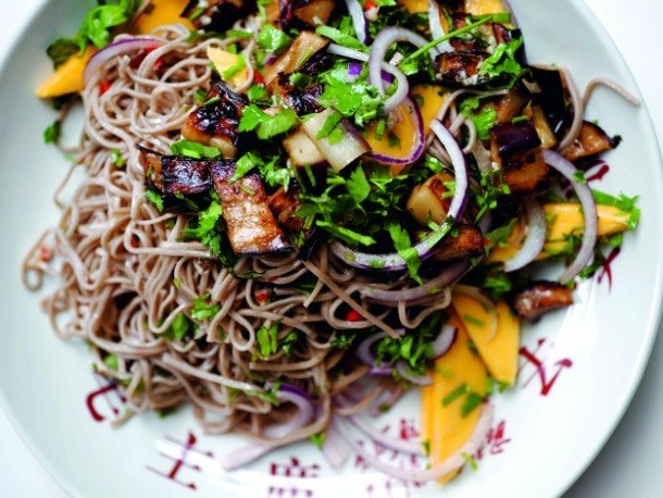 buckwheat soba noodles soba noodles with swiss chard miso pesto