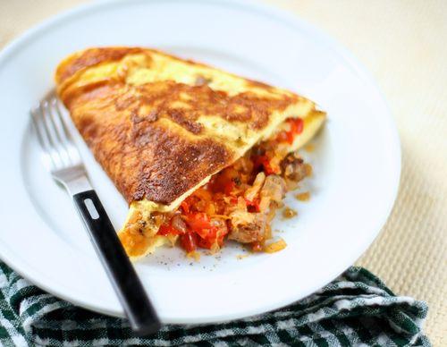 Fluffy diner omelets