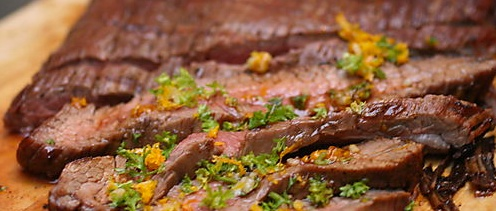 Flank Steak with Tamarind Glaze and Orange Gremolata