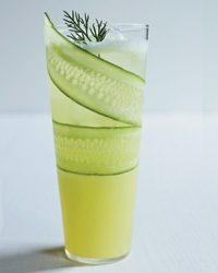 Cucumber lemonade mocktail