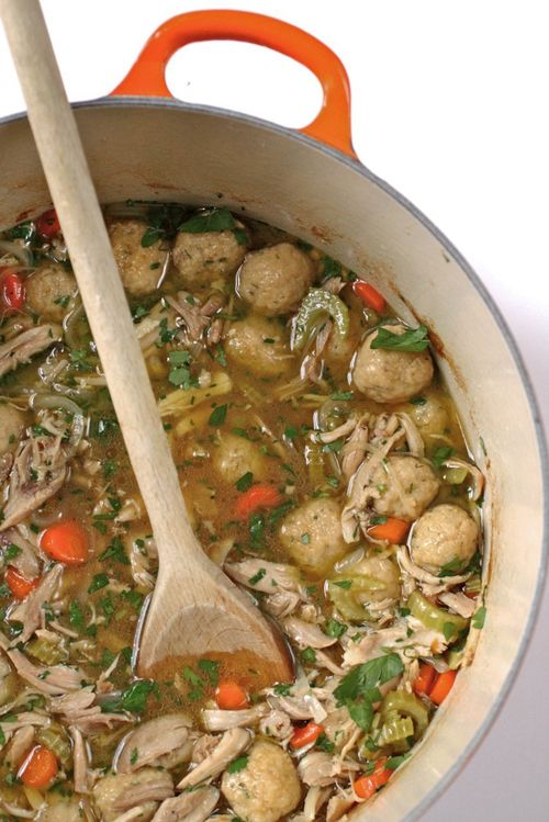 Chicken matzo soup2