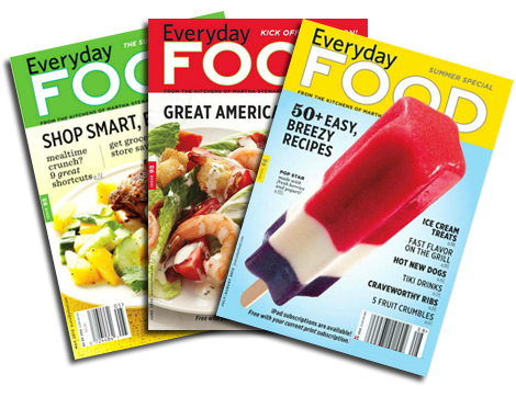 Everyday food covers 7-12