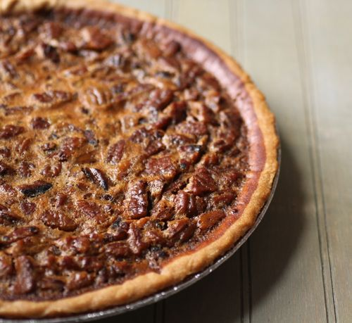 Sorghum chocolate pecan pie