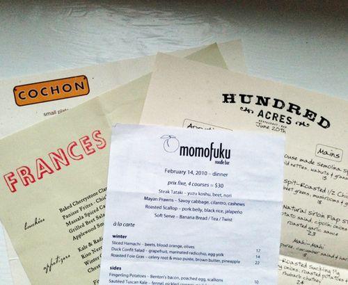 Restuarant menus1