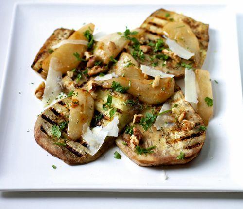 Pear eggplant salad1