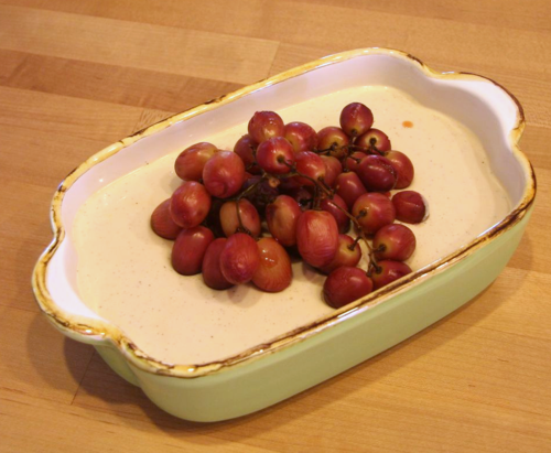 MSL-Panna Cotta with Roasted Grapes