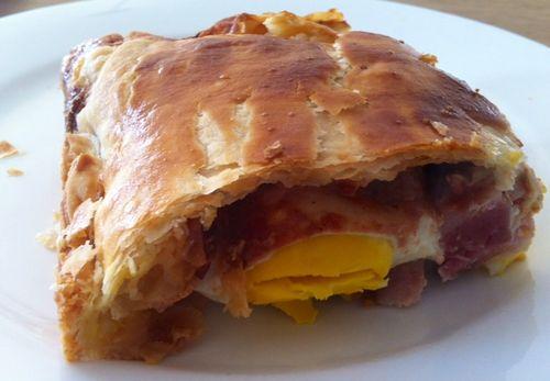 Bacon egg pie