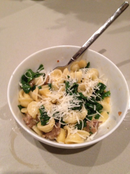 EF_ Orecchiette with Sausage, Chard, and Parsnips