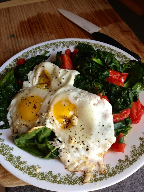 EF_Eggs Spinach tomatoes