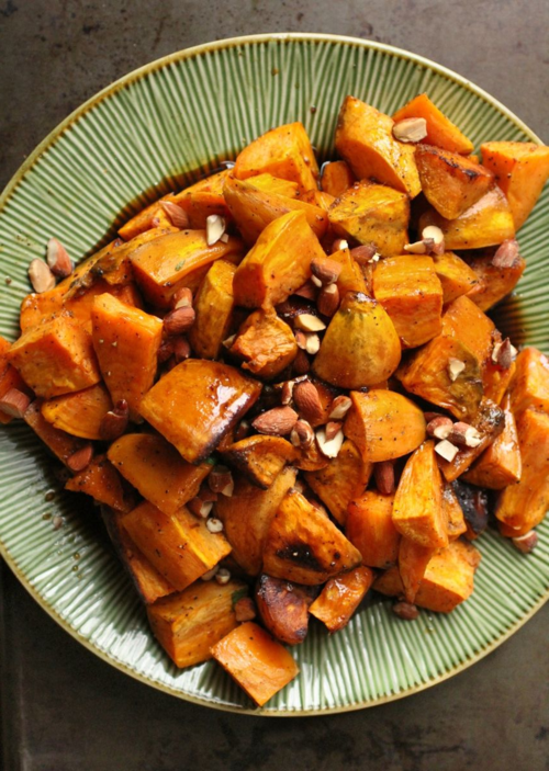 Sweet potatoes bourbon maple glaze