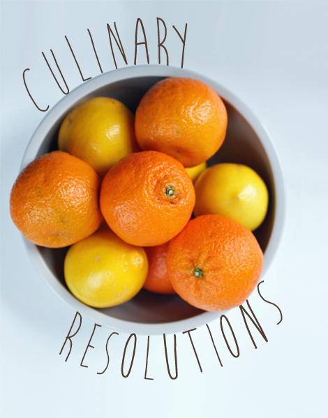 Culinary resolutions 2013