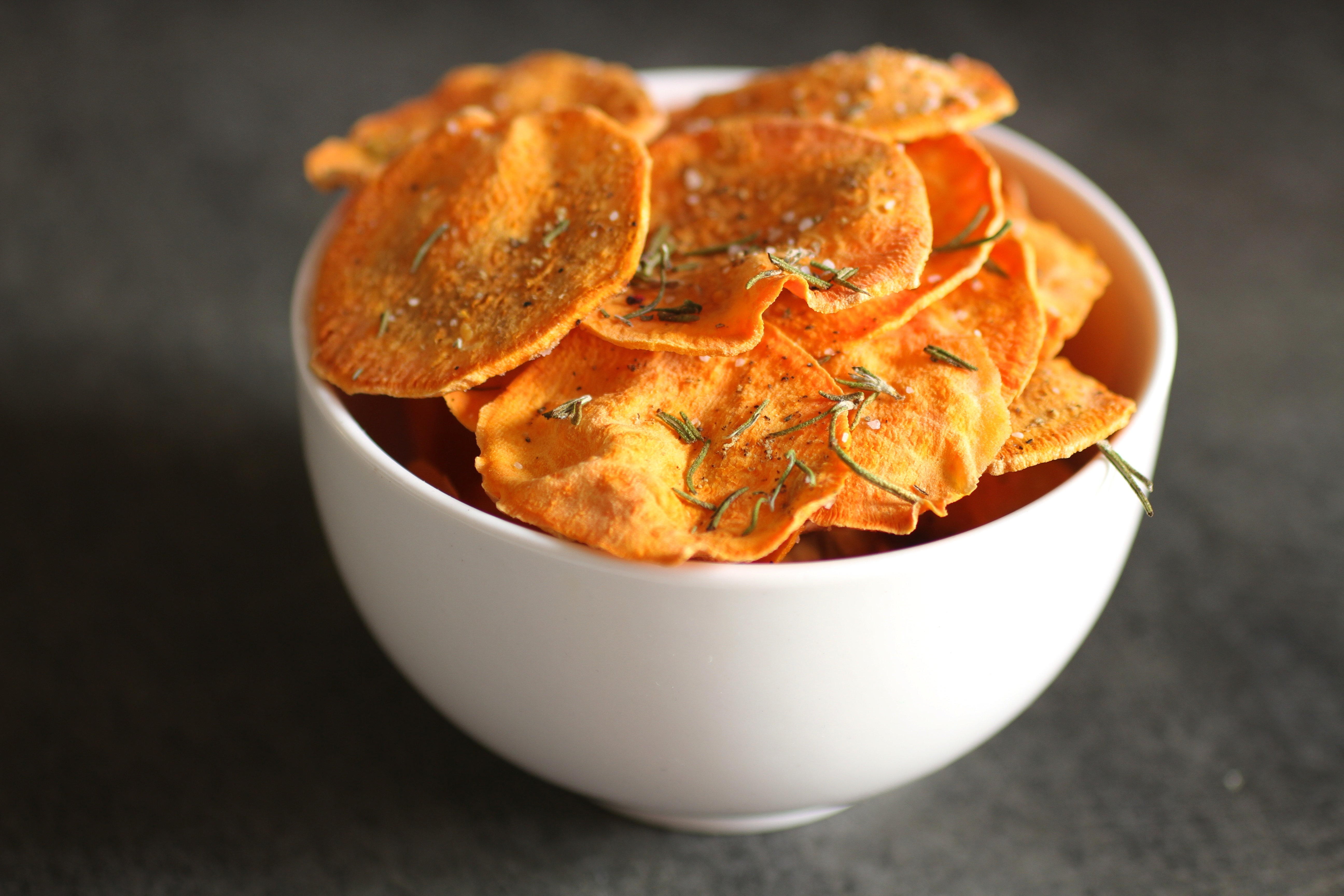 The bitten word microwave sweet potato chips heres an idea that we genuinely want to love thin slices of sweet potato sprinkled with salt and rosemary and microwaved briefly until theyre crisp ccuart Choice Image