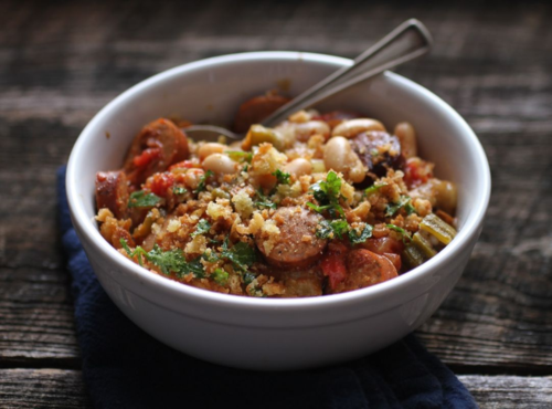 Cajun chicken cassoulet2