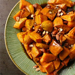 Sweet potatoes bourbon maple glaze250
