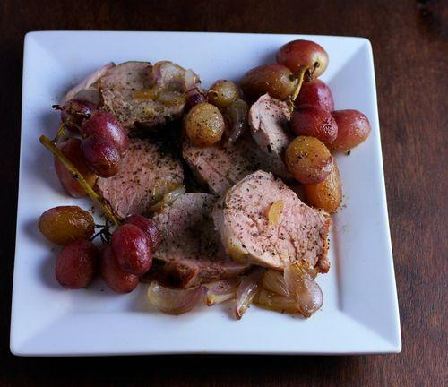 Pork grapes sage