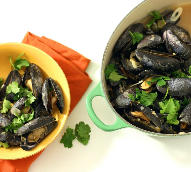 Mussels poblano
