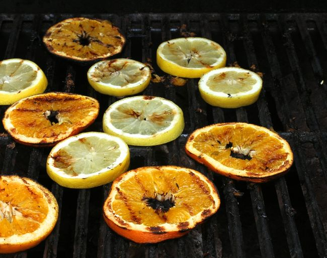 The other thing we made was this Grilled Citrus and Grape Sangria.