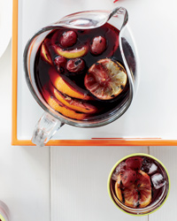 Grilled sangria food and wine