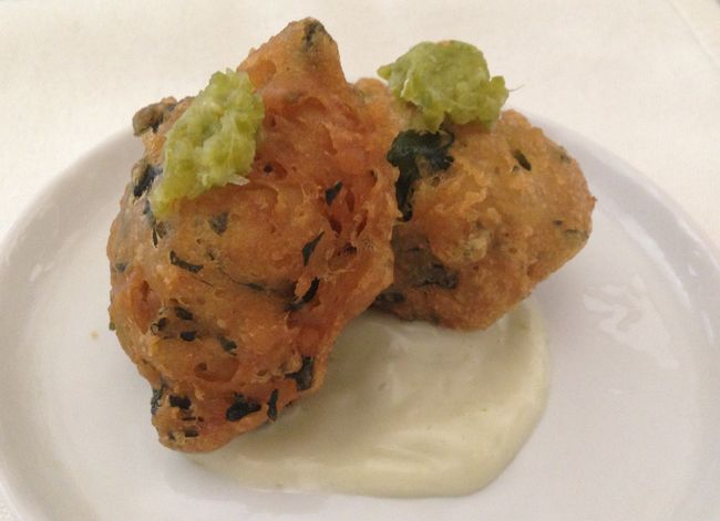Seaweed & Tofu Beignets with Lime Mayonnaise Carrie