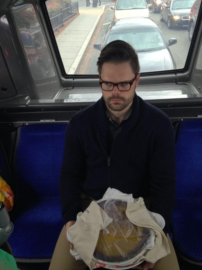 Pie on a bus