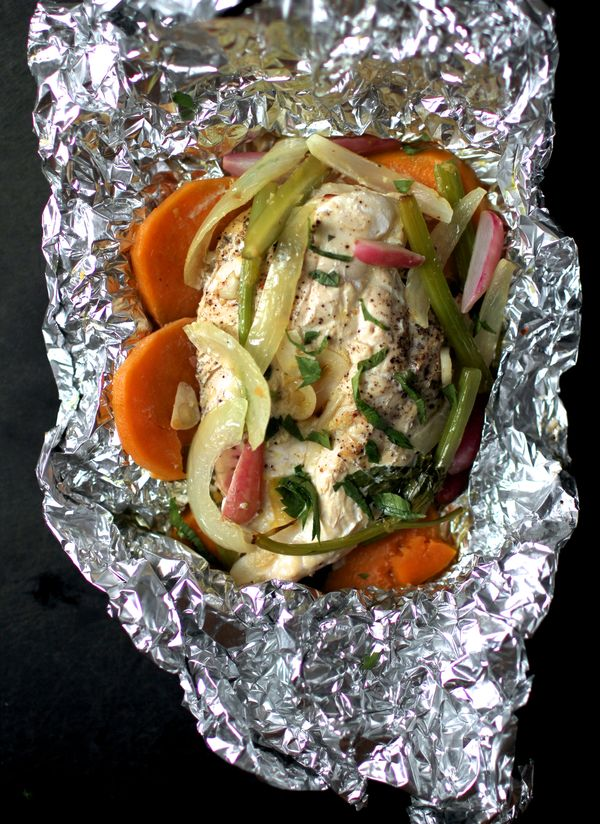 The Bitten Word Chicken Baked In Foil With Sweet Potato And Radish