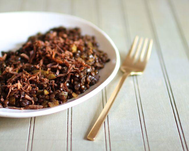 Lentils with coconut
