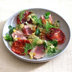 Oil-Poached Tuna with Fennel and Orange sq