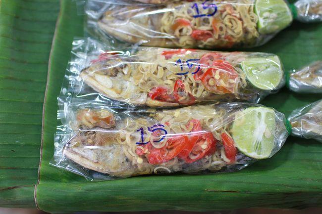 Market - bagged fish
