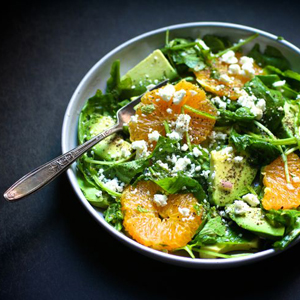 Avocado and Orange Salad with Jalapeño Vinaigrette sq