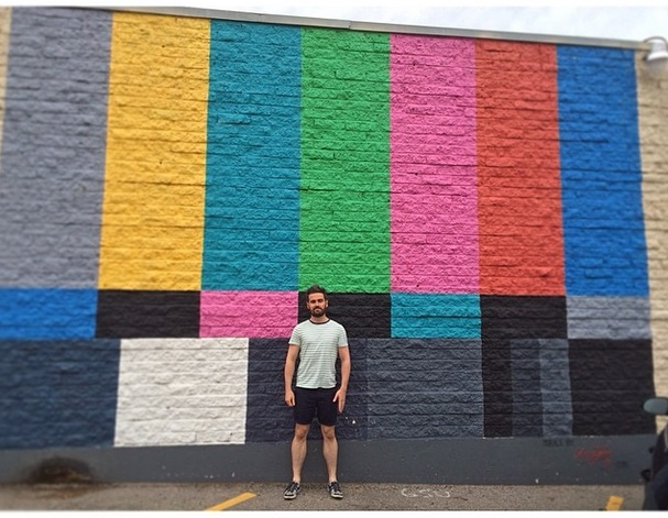 Clay test pattern mural