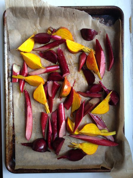 Roasted rhubarb and beets2