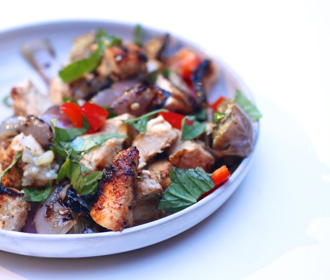 Grilled thai chicken with basil
