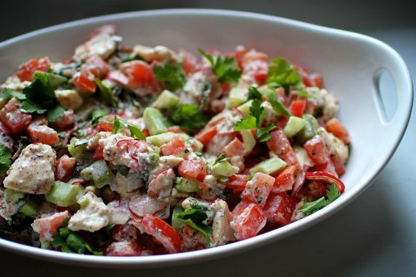 The Bitten Word: Dinner with Margie | Na'ama's Fattoush ...