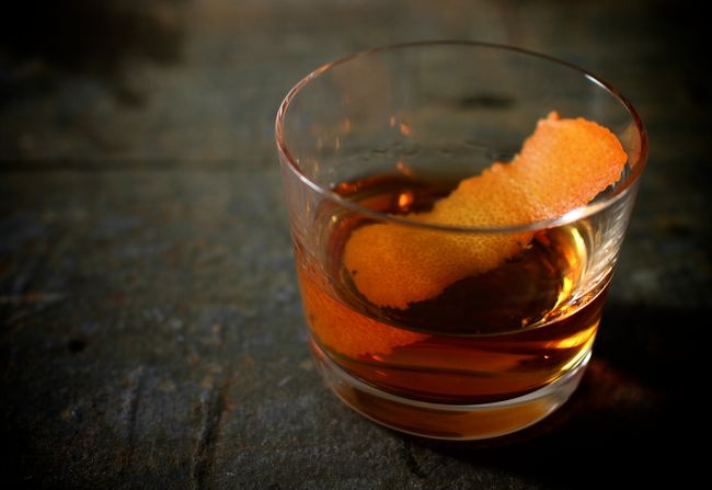 Diamondback rye cocktail