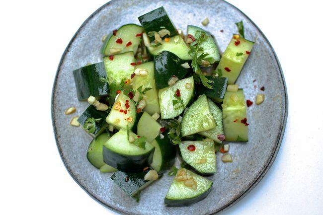 Spicy asian cucumbers blog