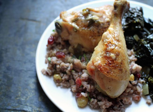 Slow-Roasted Chicken with Shallot-Garlic Pan Sauce