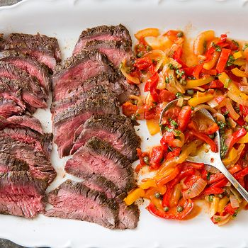 Flank Steak Peperonata COOKS COUNTRY
