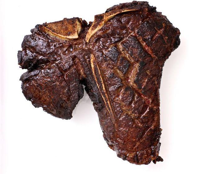 Slow-Roasted, Twice-Fried Porterhouse Steak whole