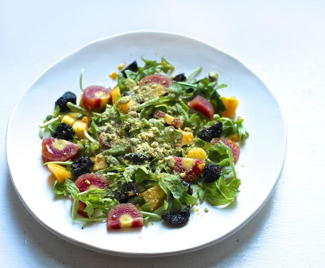 Arugula Salad with Dried Cherries and Pistachios