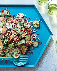 Recipe0615-grilled-chicken-thigh-and-cucumber-salad
