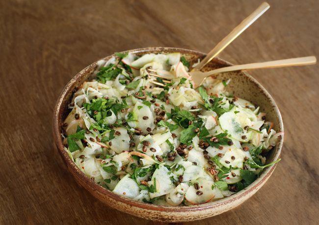 Shaved apple fennel salad POST